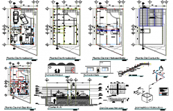 Multi-flooring housing expansion architecture project dwg file