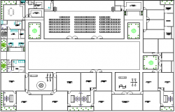 Multi-flooring school architecture layout plan details dwg file