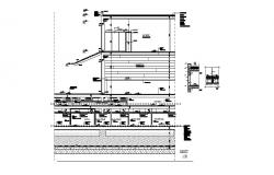 Multi-level hotel building constructive section cad drawing details dwg file