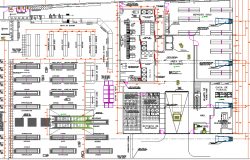 Multi-level shopping mall architecture layout plan details dwg file
