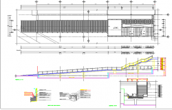 Multi-level shopping mall architecture project dwg file