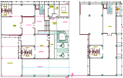 Multi-purpose corporate building architecture project dwg file