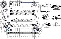 Multi-purpose shopping center architecture project dwg file