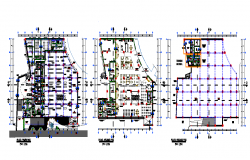 Multi specialist Hospital Design in DWG file