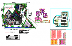 Multi storey housing design drawing