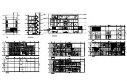 Multi-story corporate building detailed architecture project dwg file