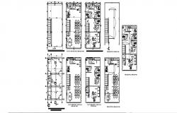 Multi-story corporate office building floor plan cad drawing details dwg file