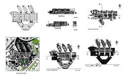 Multi-story general hospital detailed architecture project dwg file