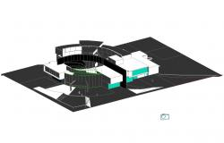 Multi-story hospital building 3d drawing details dwg file