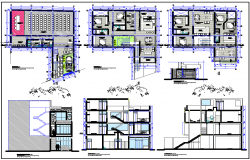Multifamily Residence Plan dwg file.
