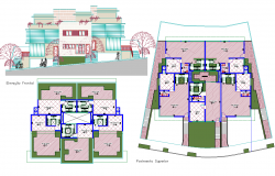 Multifamily Residence Project detail dwg file