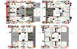 Multifamily Residential layout plan dwg file