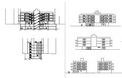 Multifamily apartment elevation view