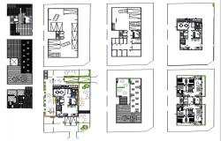 Multifamily apartment plan view