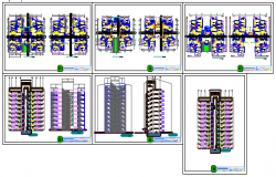 Multiple  residential Building design drawing