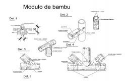 Multiple bamboo modules cad drawing details dwg file