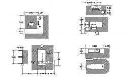 Multiple blocks of furniture in dwg file
