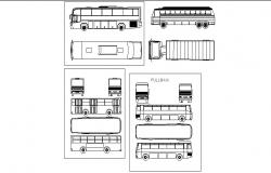 Multiple bus and truck elevation blocks cad drawing details dwg file
