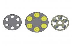 Multiple magnum wheel 3d blocks cad drawing details dwg file