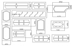 Multiple modern door designing blocks details dwg file