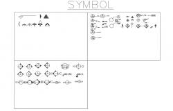 Multiple symbols and sign blocks cad drawing details dwg file