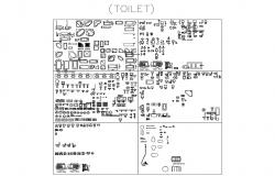 Multiple toilet and sanitary blocks cad drawing details dwg file