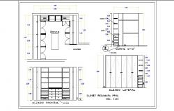 Multiple wardrobe, cabinet and drawing room furniture details dwg file