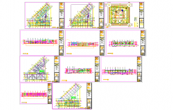 Multiplex theater architecture master plan and detail