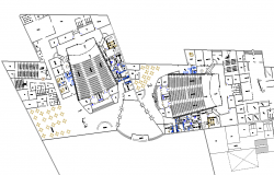 Multiplex theater plan dwg file