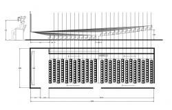 Multiplex theater screen plan cad drawing details dwg file