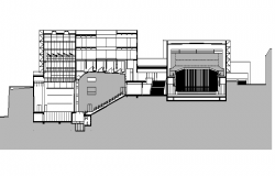 Multipurpose Arcade Elevation plan dwg file