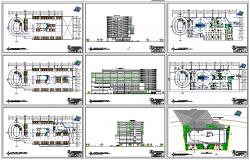 Multipurpose Building design dwg file