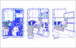 Multipurpose community center floor plan dwg file