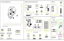 Multipurpose hospital equipment blocks design dwg file