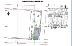 Multipurpose room location with detail dwg file