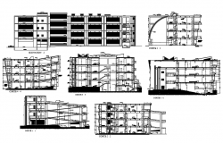Building Section plan CAD file