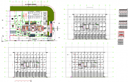 Multistory corporate building architecture plan and design