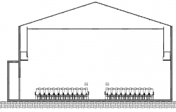 Municipal Auditorium Hall Design and Elevation dwg file