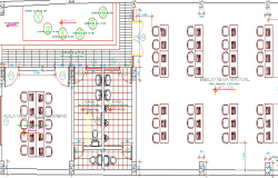 Municipal Library Architecture Design and Structure Details dwg file