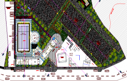 Municipal Sports Ground Architecture Layout dwg file