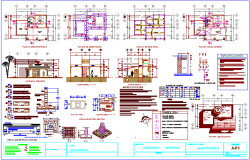 Municipal agency architectural floor plan,structural plan,electrical and sanitary installation plan dwg file