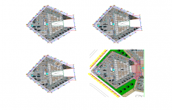 Municipal building detail 2d view layout file in dwg format
