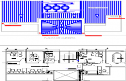 Municipal building layout plan dwg file