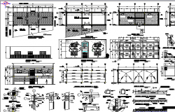 Municipal government office architecture project details dwg file
