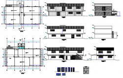 Municipal government office architecture project dwg file