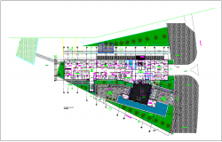 Municipal head quarter first floor plan dwg file