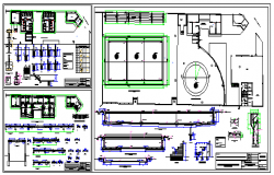 Municipal swimming pool design drawing