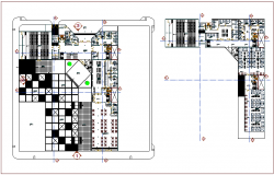 Municipality building plan with detail view dwg file