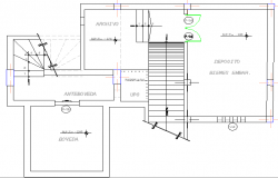 Municipality government office architecture layout plan details dwg file