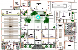 Municipality office architecture layout plan details dwg file